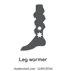 Leg warmer icon vector isolated on white background for your web and mobile app design, Leg warmer logo concept