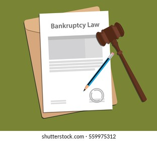 Legal concept of bankcruptcy law illustration