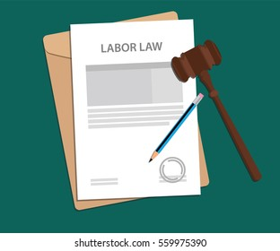 legal concept of labor law illustration