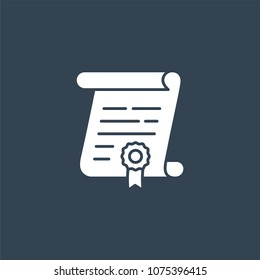 Legal documents icon or business agreement symbol. Contract document vector illustration.