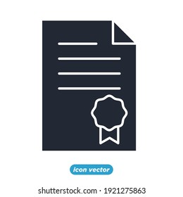 Legal Documents icon. Legal Documents symbol template for graphic and web design collection logo vector illustration
