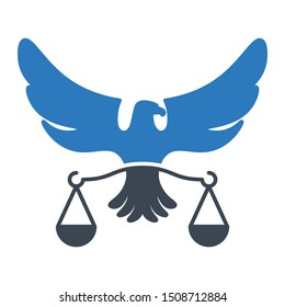 Legal Eagle Balance Justice Crime Logo Vector Icon Design