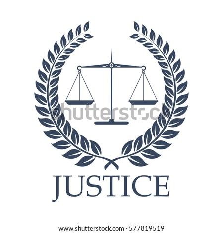 Legal Law Icon Symbols Justice Scales Stock Vector Royalty Free