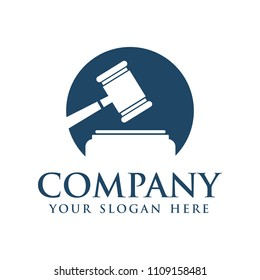 Legal Law logo, gavel logo vector ilustrator