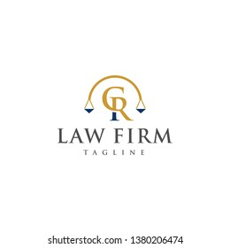 Legal Logos and Lawyers in alphabet letters CR