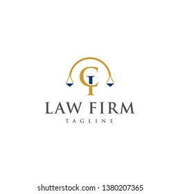 Legal Logos and Lawyers in alphabet letters CI