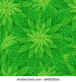 Legal Recreational Medicine Cannabis Marijuana Seamless Pattern Vector Art Design Illustration