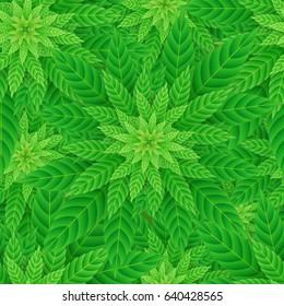 Legal Recreational Medicine Cannabis Marijuana Seamless Pattern Vector Art Design Illustration