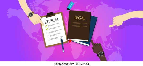 legal vs ethical law ethics dillema