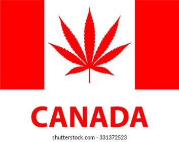 Legalize Marijuana, Weed in Canada, Flag