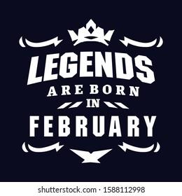 Legend are born in template t shirt design
