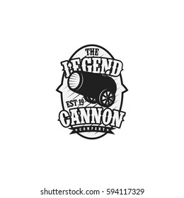 The Legend Of Cannon Logo Vector Illustration