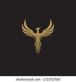 Legendary Phoenix bird vector drawing