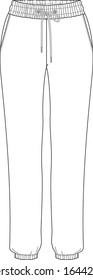Legging, tights, spandex, elasticated pants template