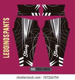 leggings pants fashion vector illustration with mold