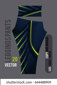 Leggings Pants fashion vector With mold