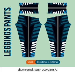 leggings patns fashion vector illustration with mold