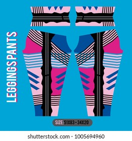leggins pants fashion vector illustration with mold