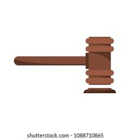 Legislation icon. Flat illustration of legislation vector icon for web