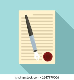 Legislation paper icon. Flat illustration of legislation paper vector icon for web design