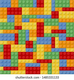 lego colorfull game with bricks vector illustration