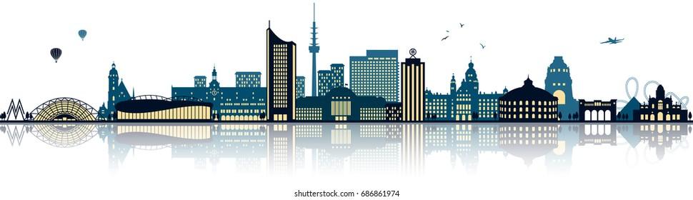 Leipzig skyline (germany)