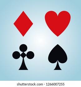 Leisure game card symbols