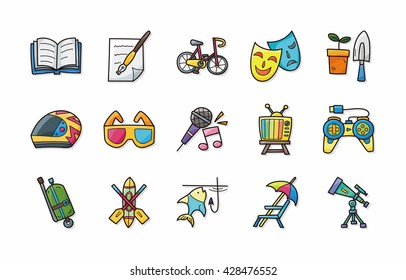 Leisure and hobby icons set,eps10