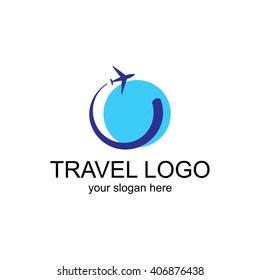 Leisure travel logo template. Tourism emblem, leisure center