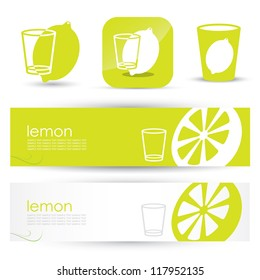 Lemon banners - vector illustration