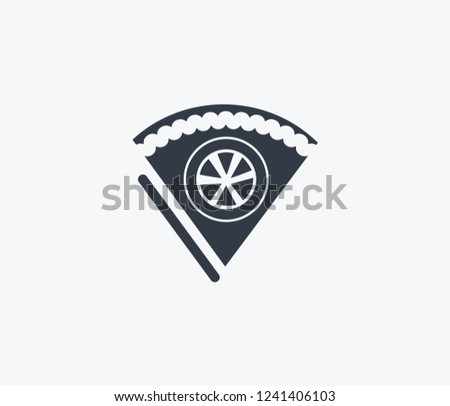 Lemon Cake Icon Isolated On Clean Stock Vector Royalty Free