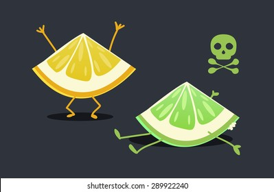 Lemon characters: Rotten lemon