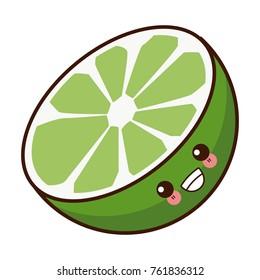 Lemon citric fruit kawaii cute cartoon