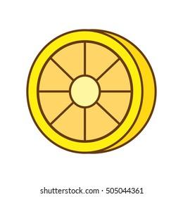 lemon citrus fruit isolated icon vector illustration design