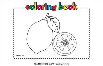 Lemon Coloring Book, Coloring Page