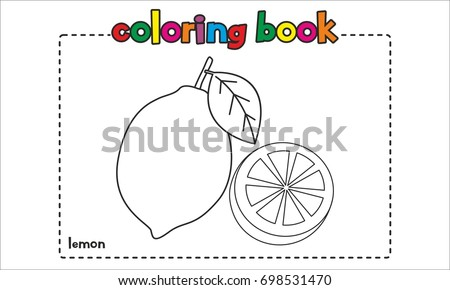 Lemon Coloring Book Coloring Page Stock Vector Royalty Free