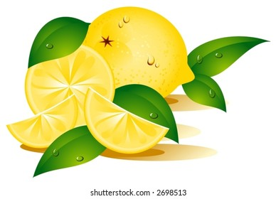 Lemon covered with water-drops