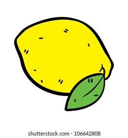 lemon in doodle style