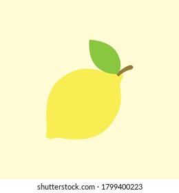 Lemon Fruit Flat Vector Icon