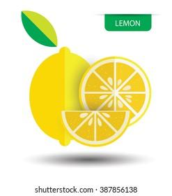 Lemon, fruit vector illustration