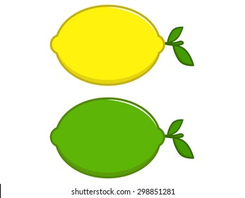 Lemon and Green Lime