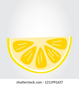 Lemon hand drawn vector isolated on gray background. Trendy lemon in flat style for menu design, packaging template, app, ui, logo, backdrop and web site. Creative art design, vector illustration