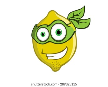 Lemon hero vector mascot