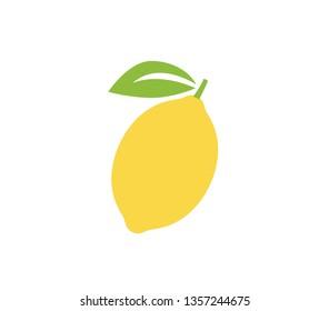 Lemon icon. Lemon citrus fruit vector design.