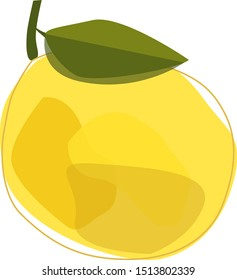 Lemon illustration. Blurry colored spots. Creative and modern illustration, wall art, greeting card, packaging design.