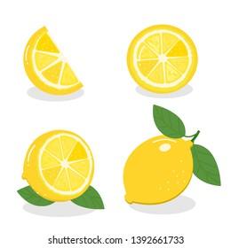 Lemon isolated on white background. vector illustration