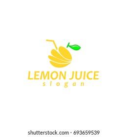 Lemon juice logo design with unique illustration