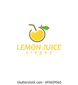 Lemon juice logo design with unique illustration