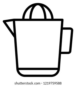 Lemon Juicer Isolated Vector icon which can be easily modified or edit