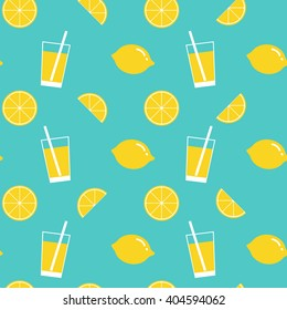 lemon and lemonade seamless pattern,lemon background